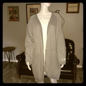 Nike Women's 2XL Grey Cardigan Sweater